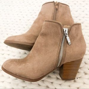 "Brown Suede Leather Ankle Boots ""Jamila"""